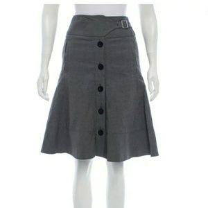 Karen Millen • Stunning Gray Knee-Length Skirt